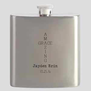 Amazing Grace Cross Custom Personalized Flask