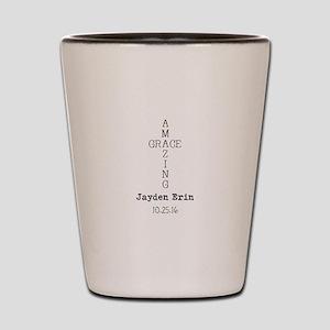Amazing Grace Cross Custom Personalized Shot Glass