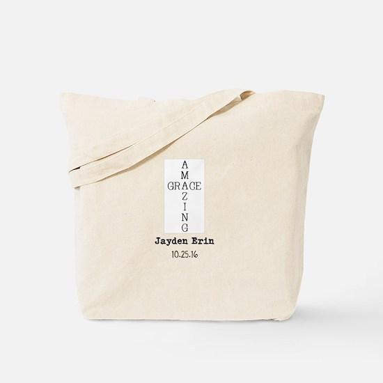 Amazing Grace Cross Custom Personalized Tote Bag