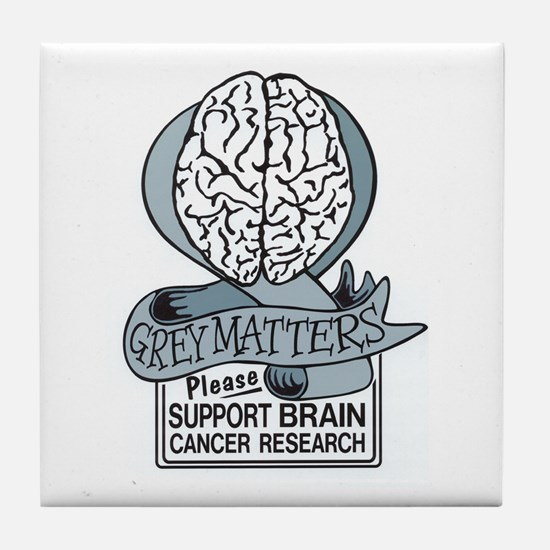 Grey Matters Support Brain Cancer Research Tile Co
