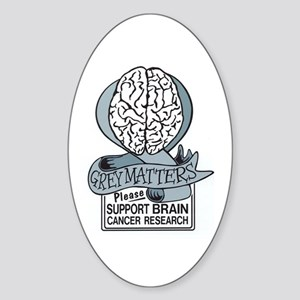 Grey Matters Support Brain Cancer Research Sticker