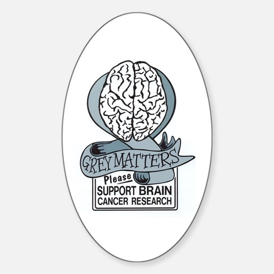 Grey Matters Support Brain Cancer Research Decal