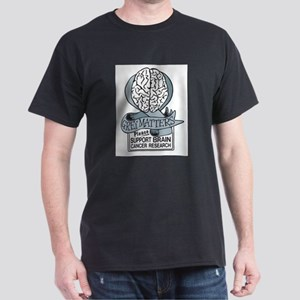 Grey Matters Support Brain Cancer Research Dark T-