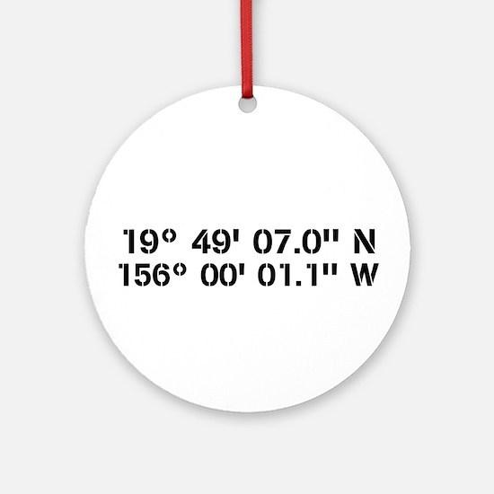 Latitude Longitude Personalized Custom Round Ornam
