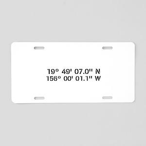 Latitude Longitude Personalized Custom Aluminum Li