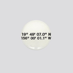 Latitude Longitude Personalized Custom Mini Button