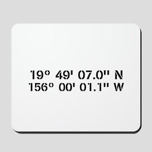 Latitude Longitude Personalized Custom Mousepad