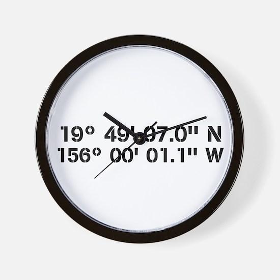 Latitude Longitude Personalized Custom Wall Clock