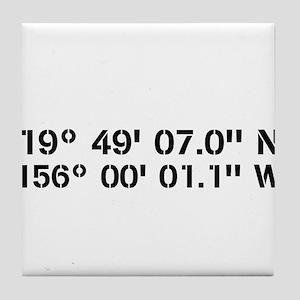Latitude Longitude Personalized Custom Tile Coaste