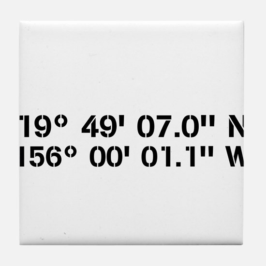 Latitude Longitude Personalized Custom Tile Coaste