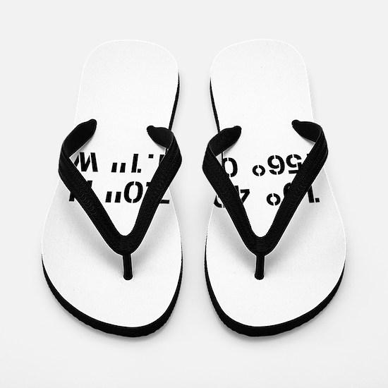 Latitude Longitude Personalized Custom Flip Flops