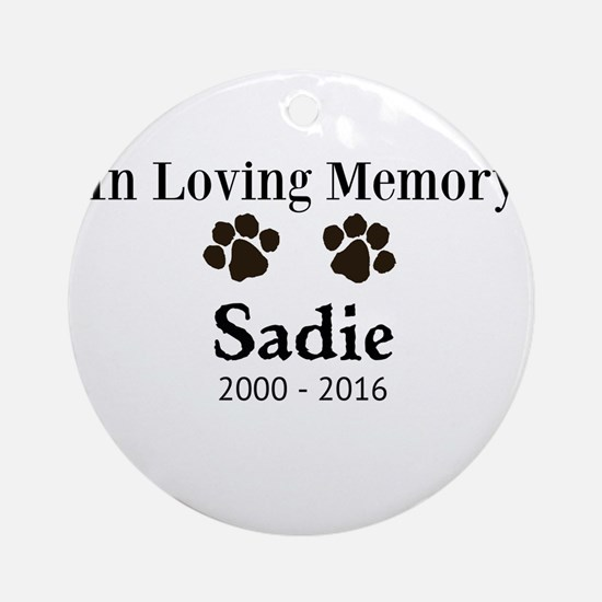 In Loving Memory Pet Paw Personalized Custom Round