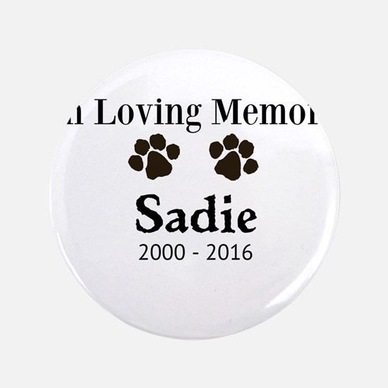 In Loving Memory Pet Paw Personalized Custom Butto
