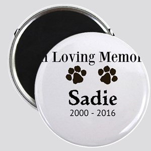 In Loving Memory Pet Paw Personalized Custom Magne