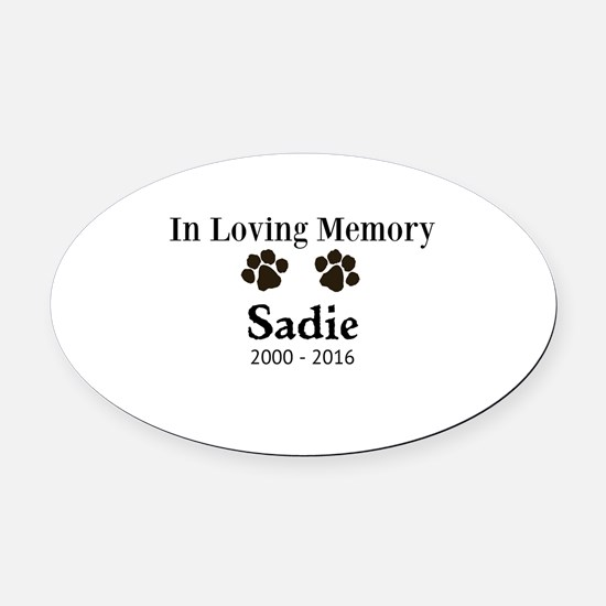 In Loving Memory Pet Paw Personalized Custom Oval