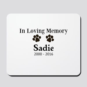In Loving Memory Pet Paw Personalized Custom Mouse