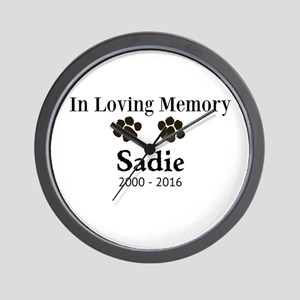 In Loving Memory Pet Paw Personalized Custom Wall