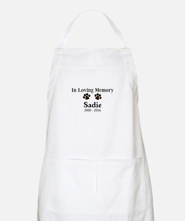 In Loving Memory Pet Paw Personalized Custom Apron