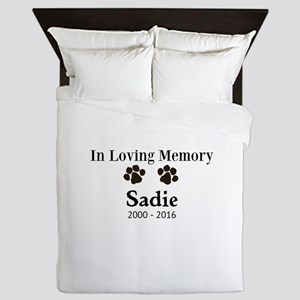 In Loving Memory Pet Paw Personalized Custom Queen