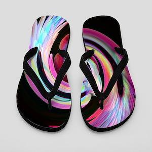 Muted Feather Swirl Flip Flops
