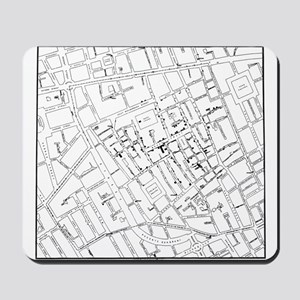 The John Snow Ghost Map Mousepad