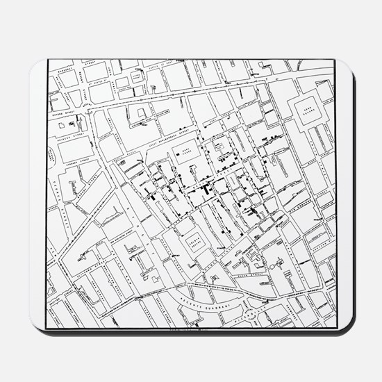 The John Snow Ghost Map Mousepad