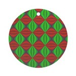 Merry Christmas Fractal Round Ornament