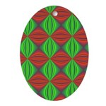 Merry Christmas Fractal Oval Ornament