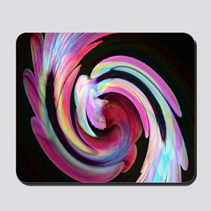 Muted Feather Swirl Mousepad