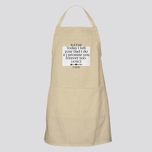 Step Mother to Step Child Wedding Custom Apron
