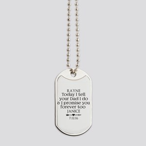 Step Mother to Step Child Wedding Custom Dog Tags
