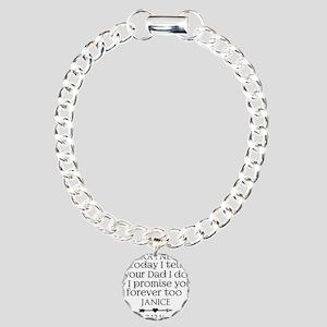 Step Mother to Step Child Wedding Custom Bracelet