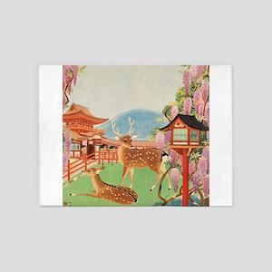 Vintage poster - Japan 5'x7'Area Rug