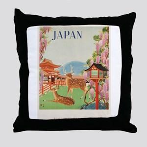 Vintage poster - Japan Throw Pillow