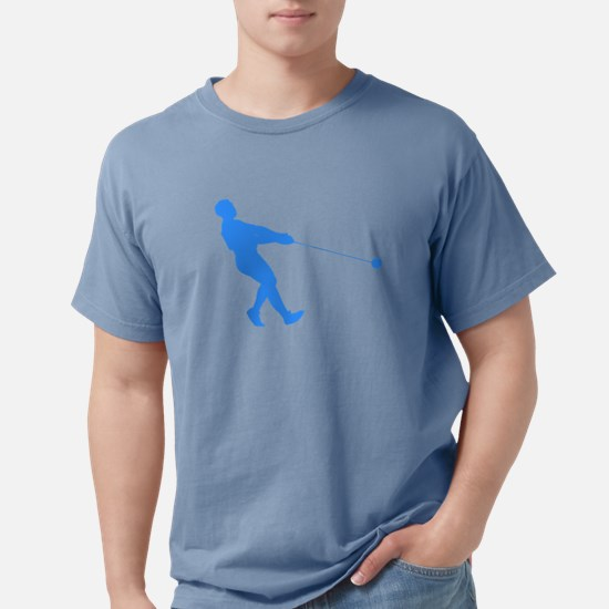 Blue Hammer Throw Silhouette T-Shirt
