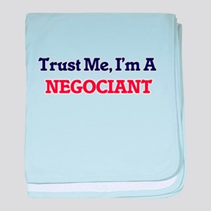 Trust me, I'm a Negociant baby blanket