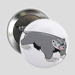 "Badger Pouncing Cartoon 2.25"" Button (10 pack)"