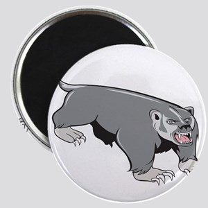 Badger Pouncing Cartoon Magnets