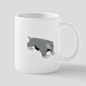 Badger Pouncing Cartoon Mugs