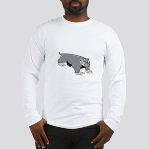 Badger Pouncing Cartoon Long Sleeve T-Shirt