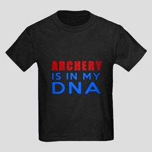 Archery Is In My DNA Kids Dark T-Shirt