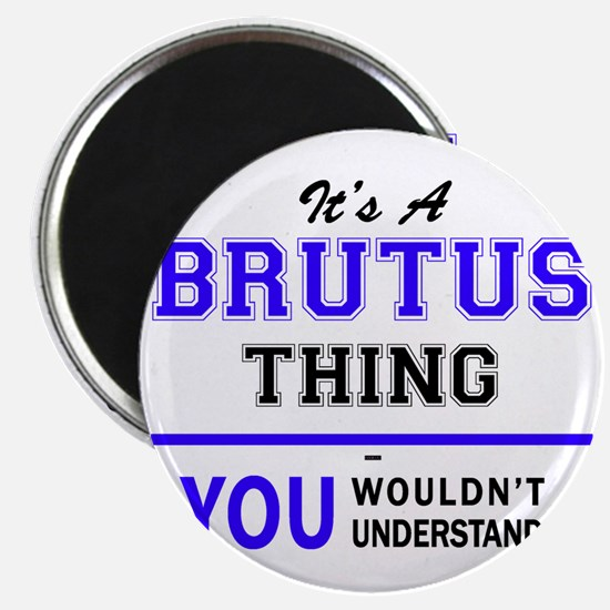 It's BRUTUS thing, you wouldn't understand Magnets