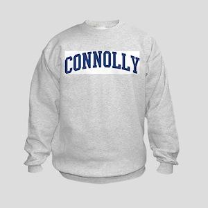 CONNOLLY design (blue) Kids Sweatshirt