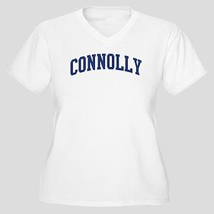 CONNOLLY design (blue) Women's Plus Size V-Neck T-