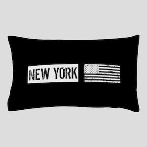 Black & White U.S. Flag: New York Pillow Case