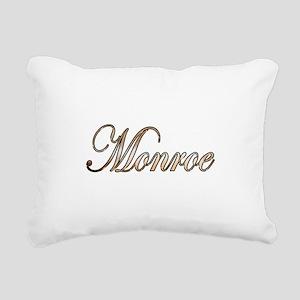 Gold Monroe Rectangular Canvas Pillow