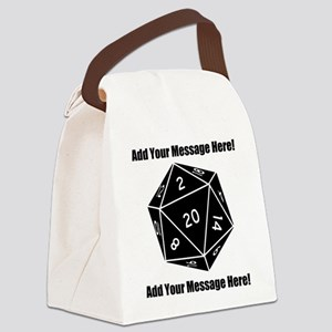 Personalized D20 Graphic Canvas Lunch Bag
