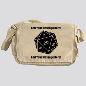 Personalized D20 Graphic Messenger Bag