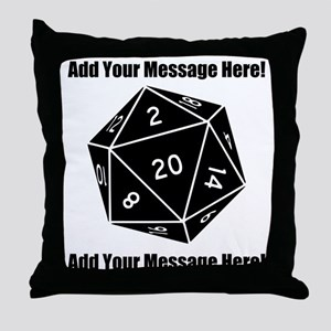 Personalized D20 Graphic Throw Pillow