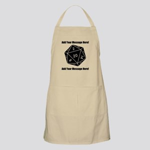 Personalized D20 Graphic Apron